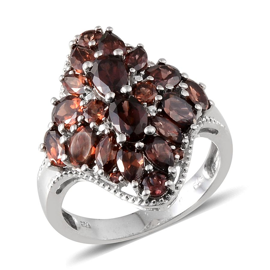 67ce25c62 Umba River Zircon, Mocha Zircon, Mozambique Garnet Platinum Over Sterling  Silver Ring (Size 10.0) TGW 8.255 cts. | Luxuryjewelry | Promotions |  online-store ...