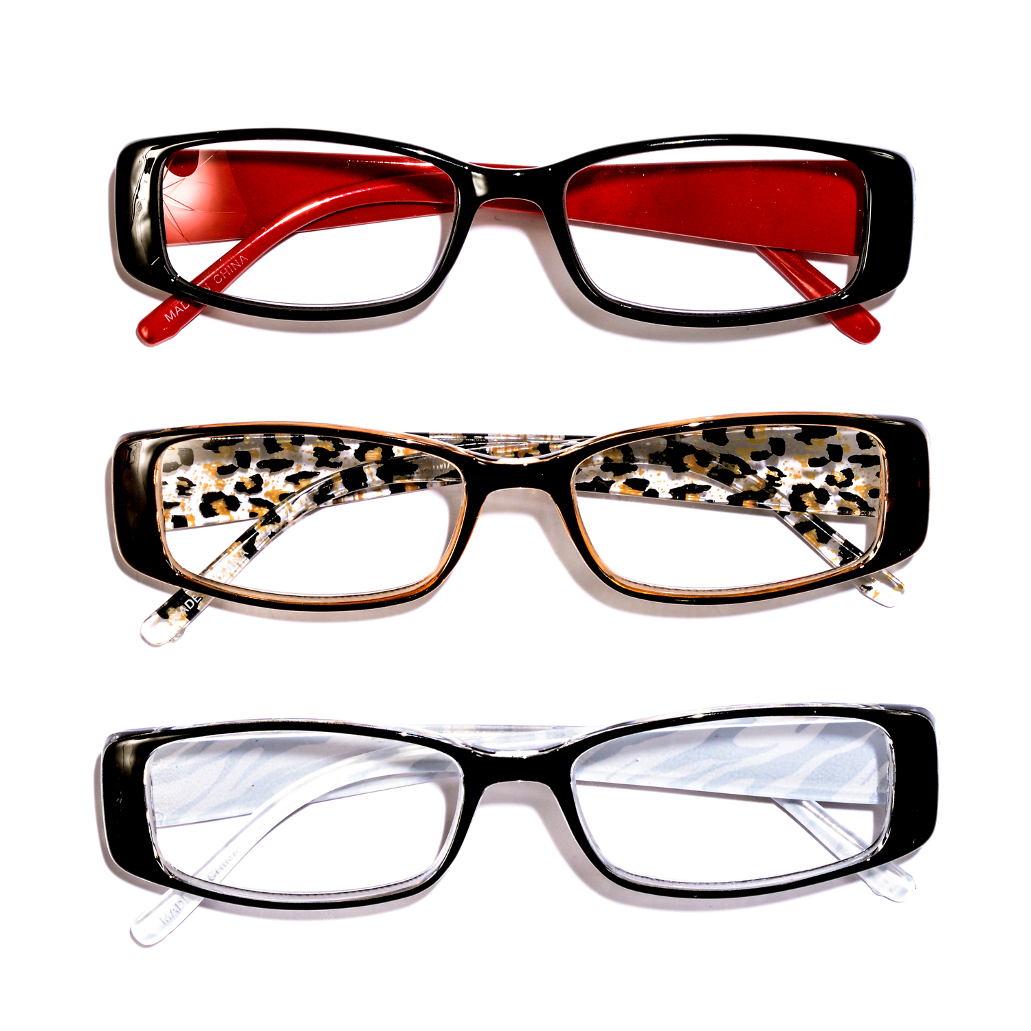 Black Red, Leopard and Zebra Print Reading Glasses 2.0 ...