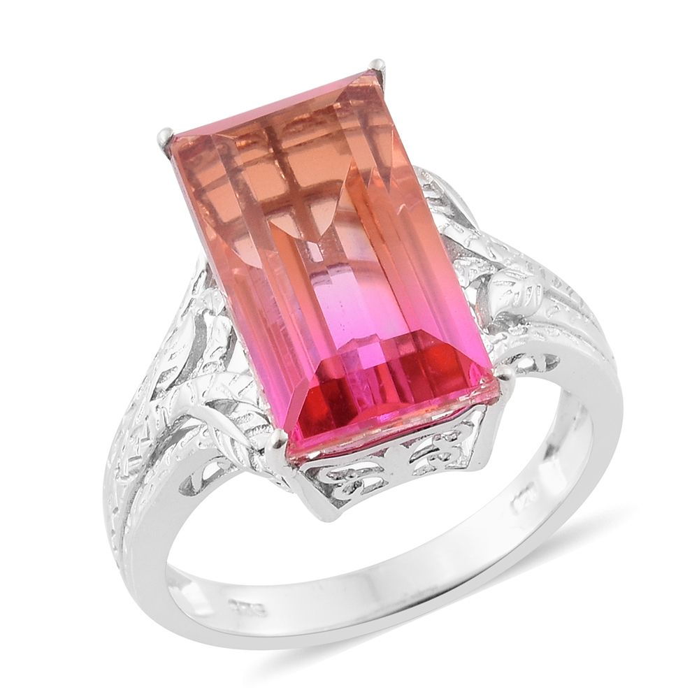 Arizona Sunset Quartz Platinum Over Sterling Silver Ring (size 60) Tgw  1300 Cts  Fashion  Rings  Jewelry  Onlinestore  Shop Lc