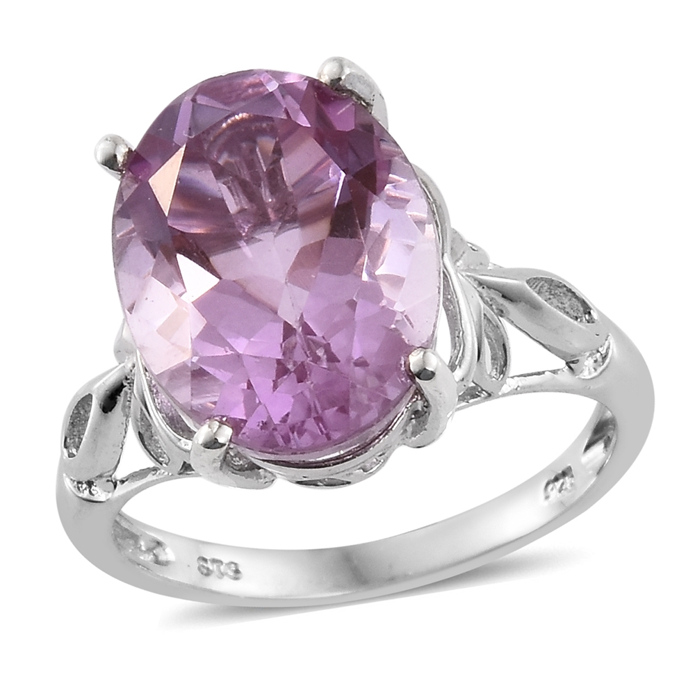 5d08b43f4 Pink Moscato Quartz Platinum Over Sterling Silver Ring (Size 7.0) TGW 9.75  cts. | Silver-Jewelry | Promotions | online-store | Shop LC