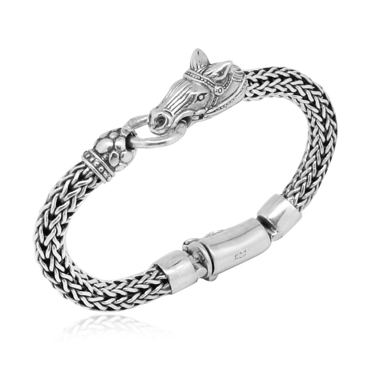 Bali Legacy Collection Sterling Silver Woven Horse Bracelet 7 50 In 51 6g