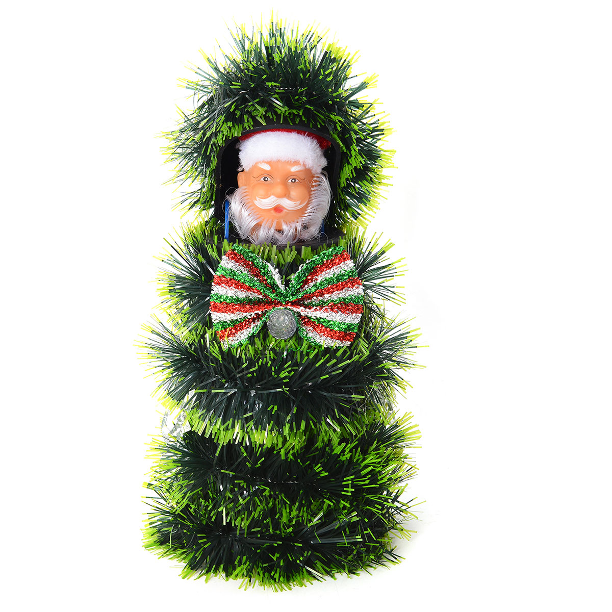 48a4457ca0dcc Danging and Singing Pop Out Santa Claus LED Christmas Tree (10.5x5 in) ...