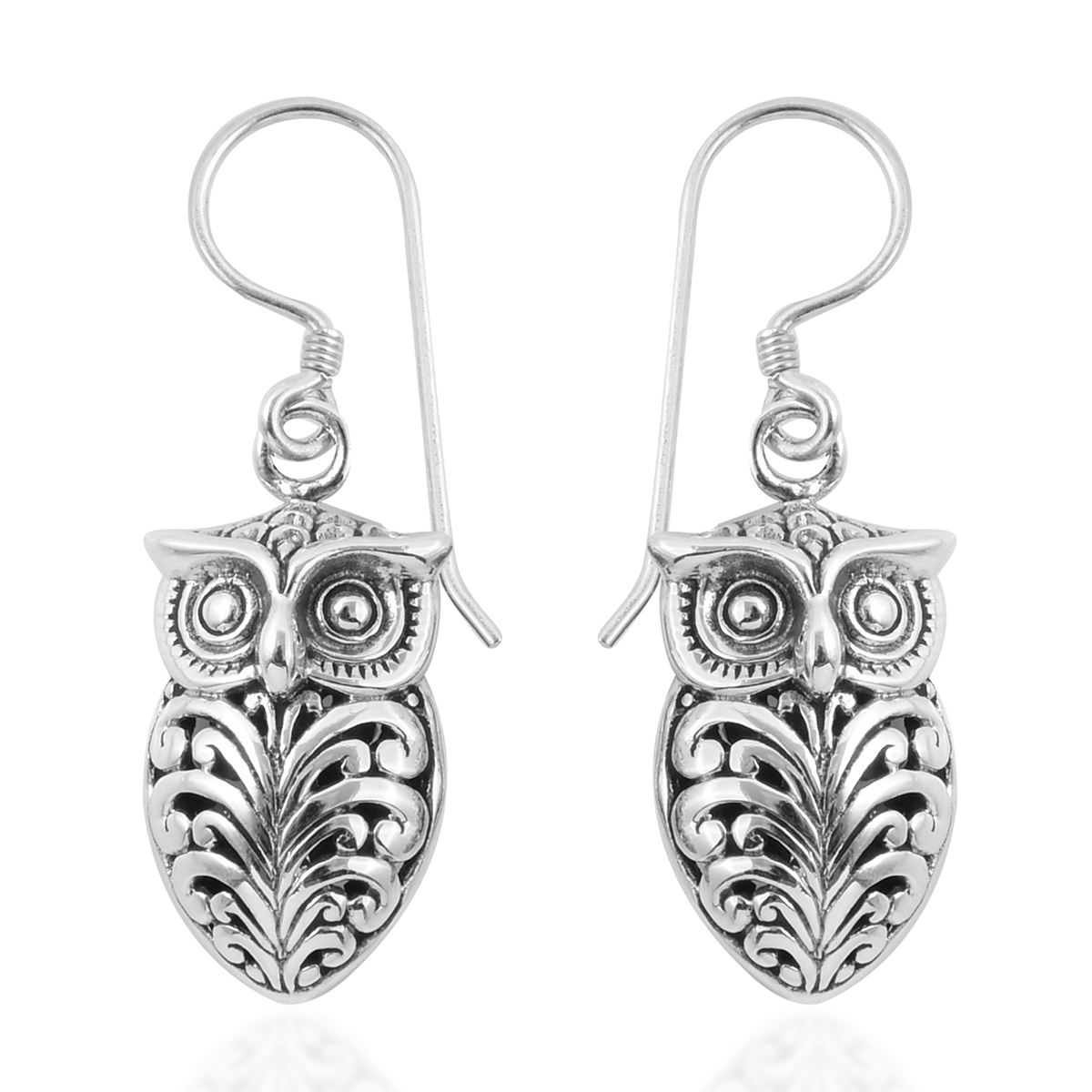 Bali Legacy Collection Sterling Silver Owl Earrings 5 36 G