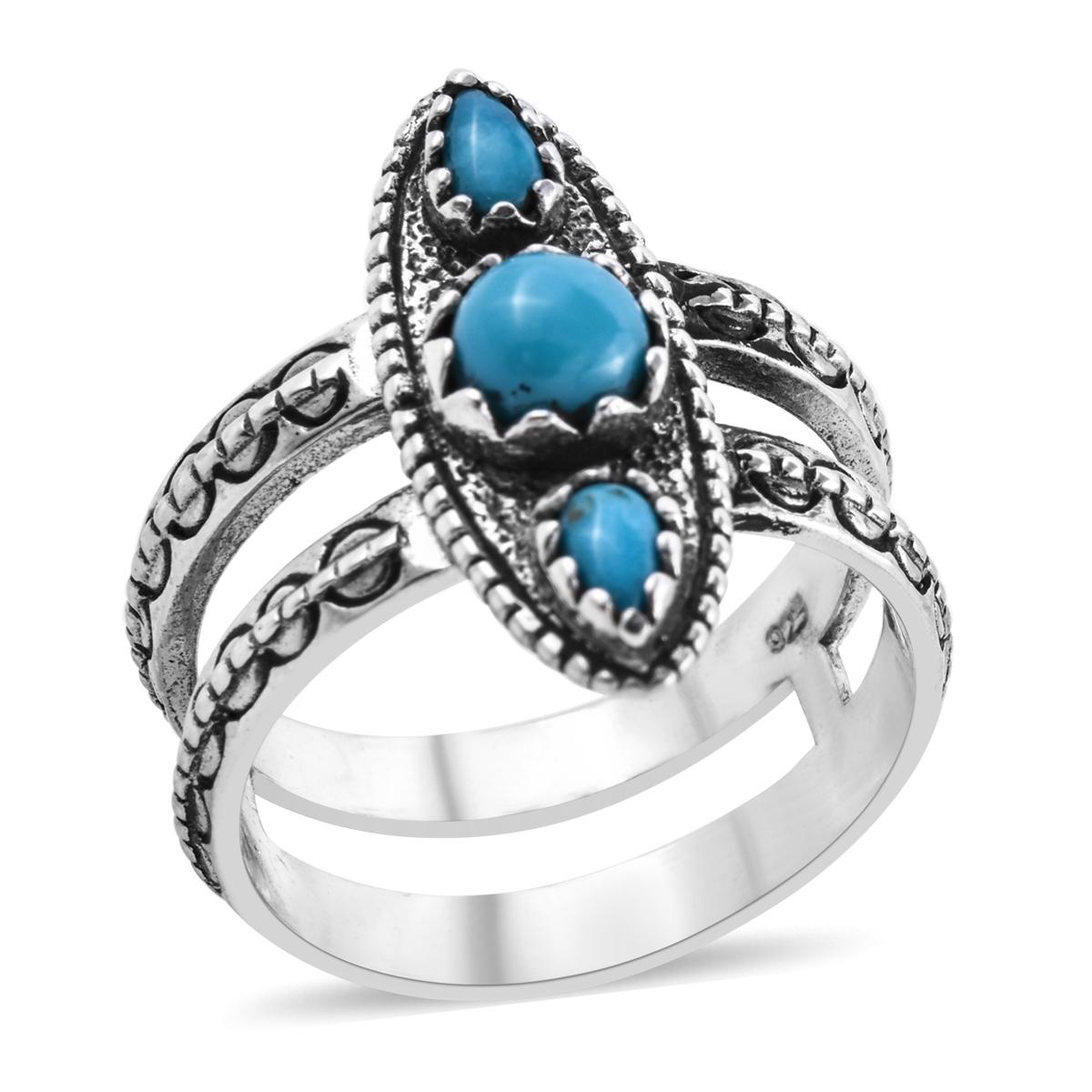 f878ecdbf16c4e Bali Legacy Collection Arizona Sleeping Beauty Turquoise Sterling Silver  Split Band Ring (Size 9.0) TGW 1.06 cts. | Arizona-Sleeping-Beauty-Turquoise  ...