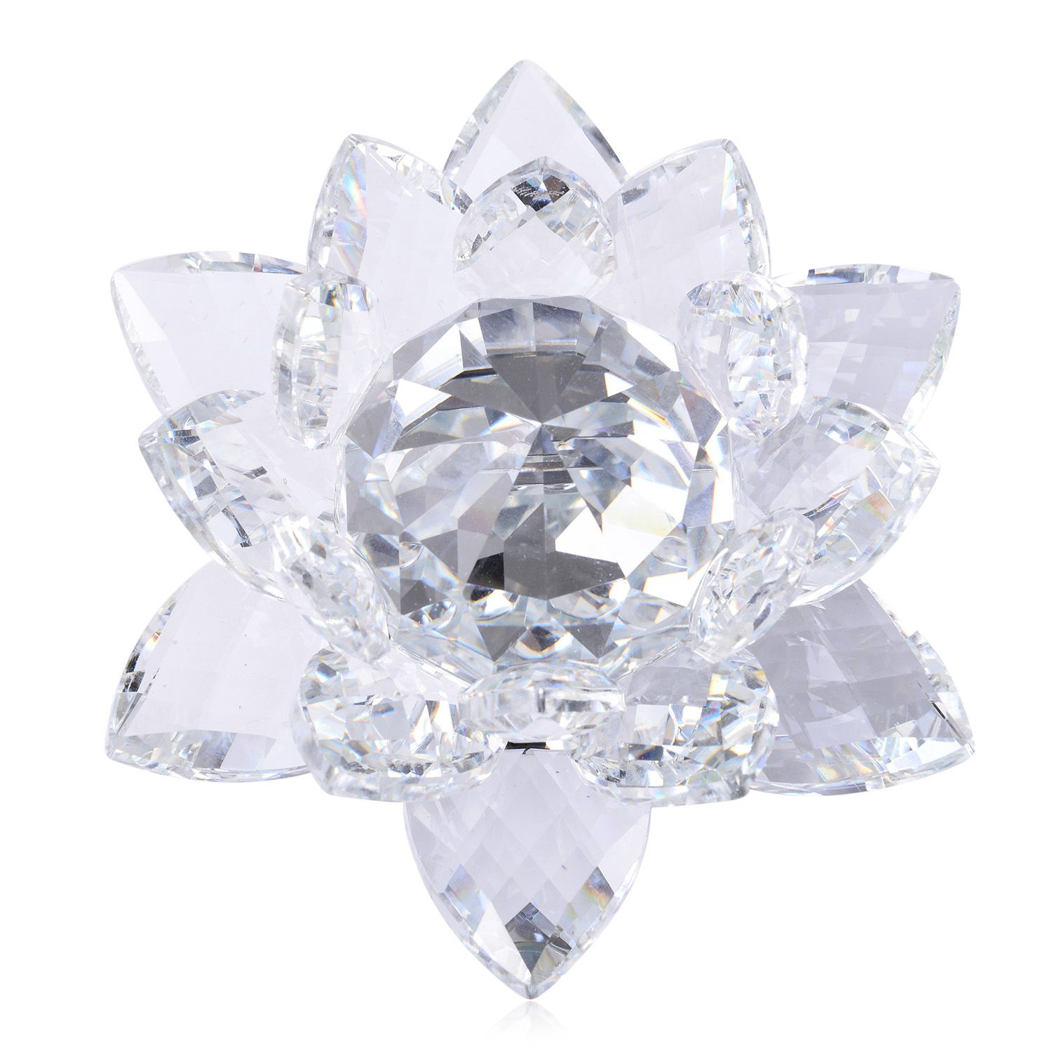 Home decorative crystal lotus flower tgw cts Crystal home decor