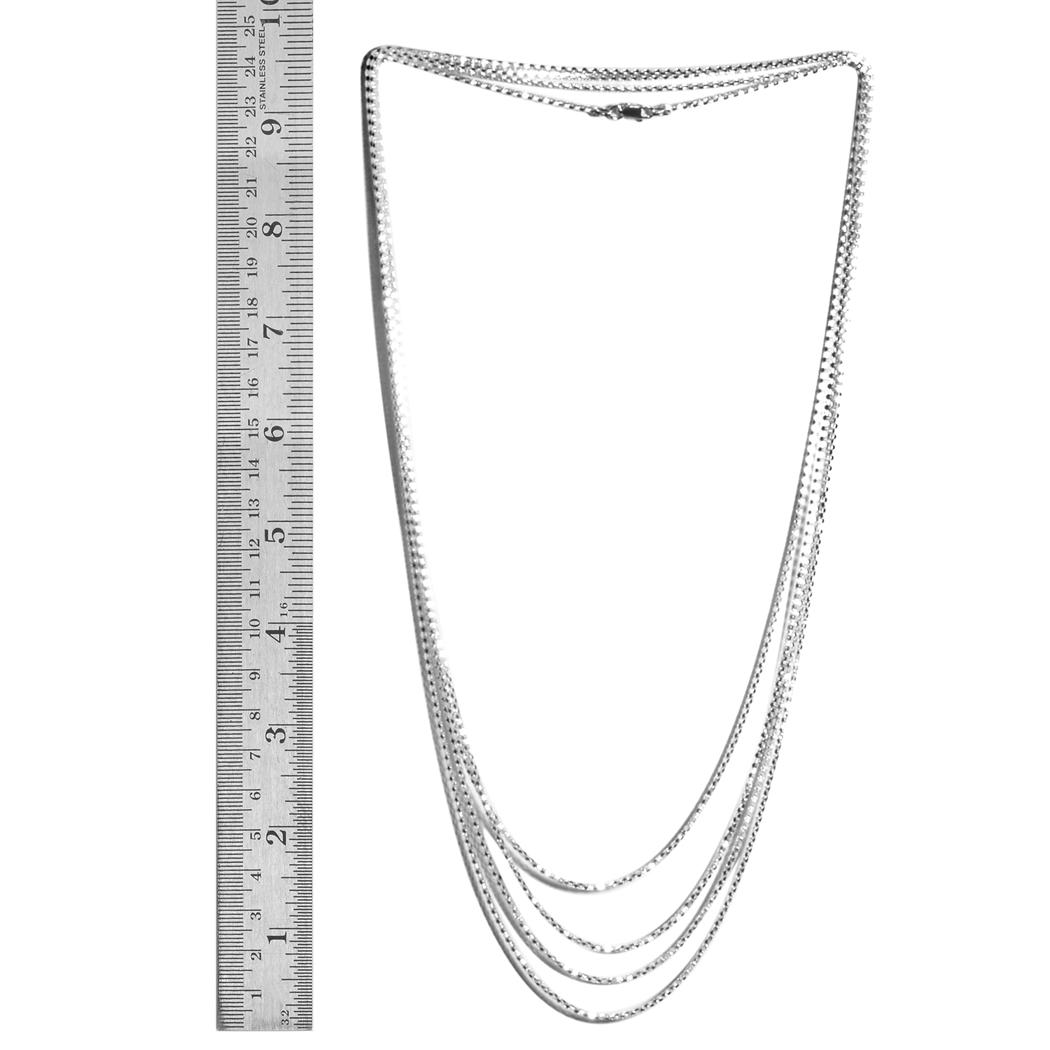 sterling silver endless mirror necklace 100 in 14 8 g necklaces