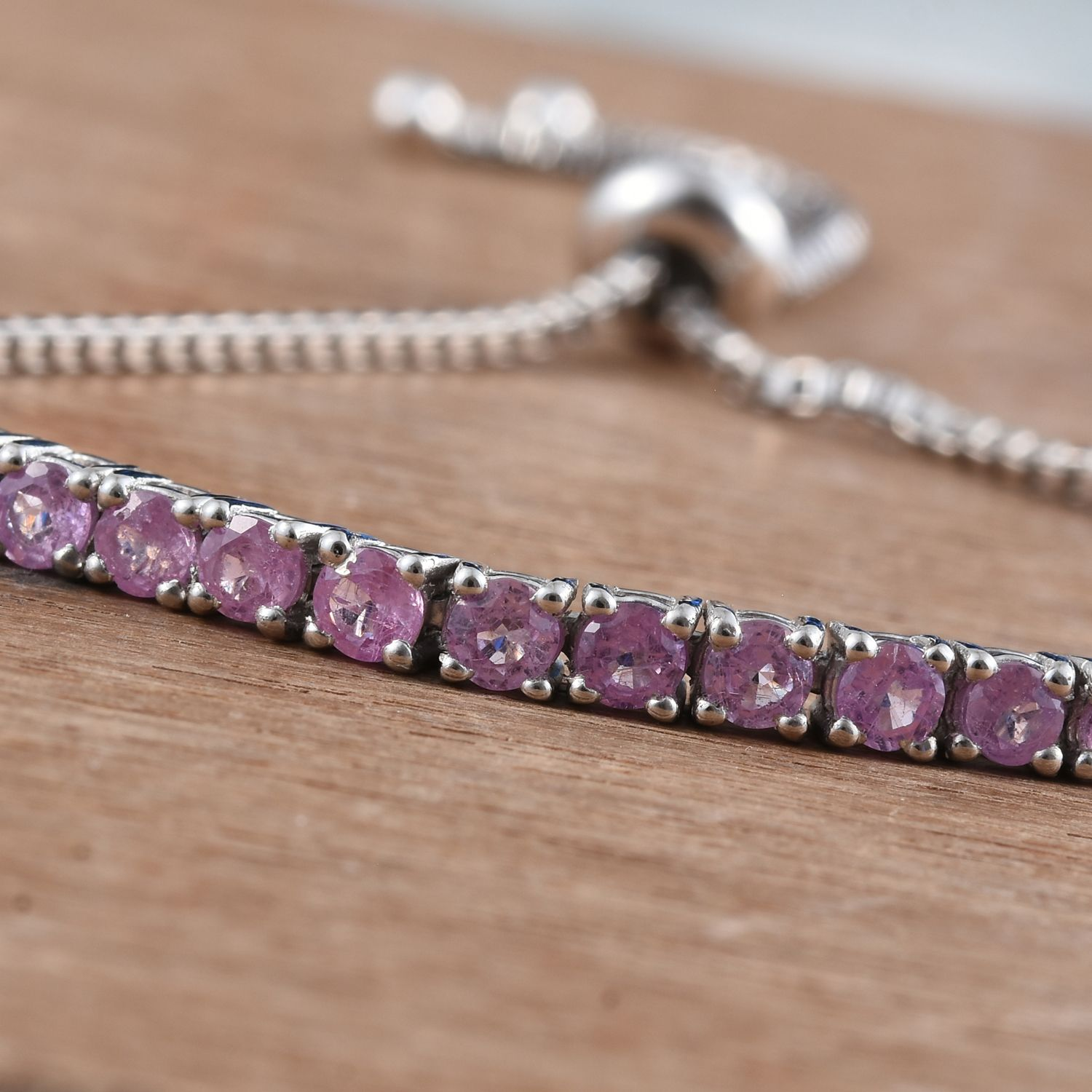 Pink Sapphire Fissure Filled Platinum Over Sterling Silver ...
