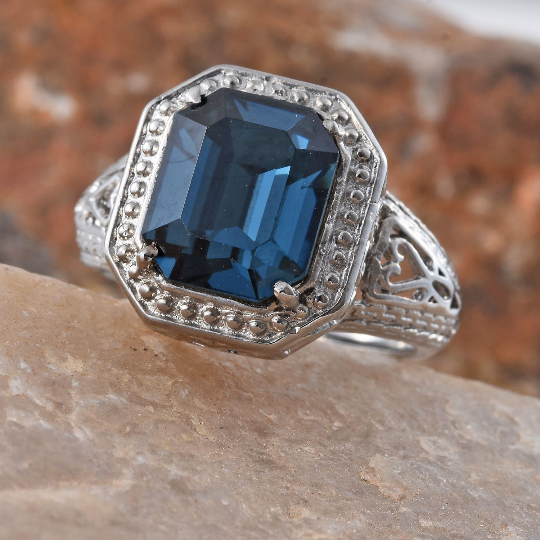 Stainless steel ring size 6 0 made with swarovski for Swarovski jewelry online store