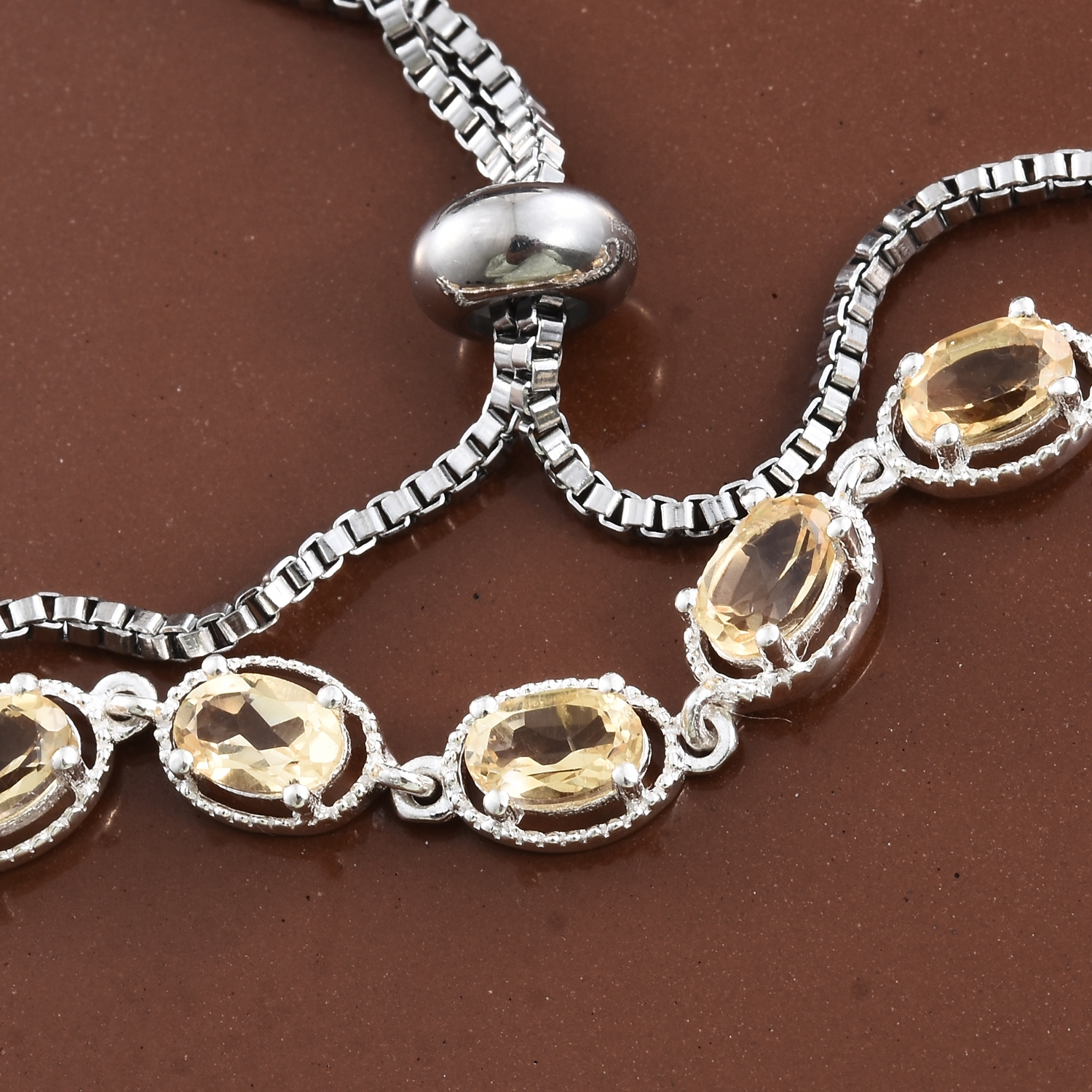 Brazilian citrine bolo bracelet in sterling silver ct for Jewelry stores in ct
