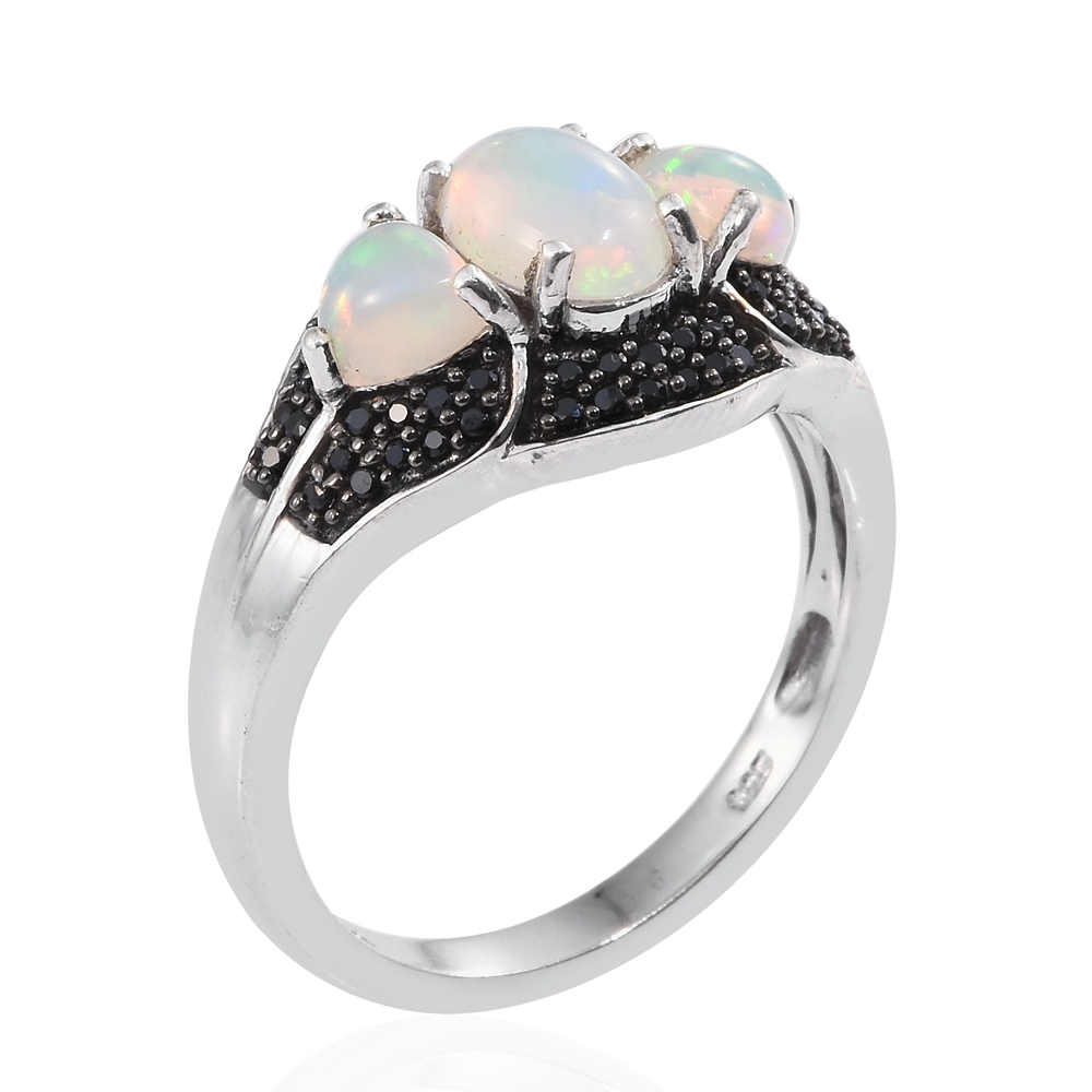 welo opal thai black spinel black rhodium and