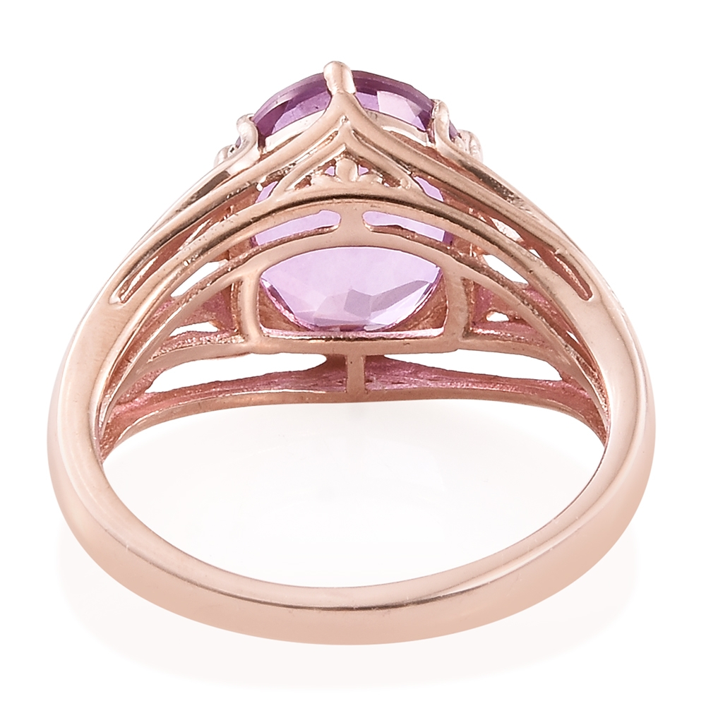 Pink Moscato Quartz 14K RG Over Sterling Silver Ring (Size 5.0) TGW ...