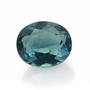 Blue Fluorite (Ovl 12x10 mm) TGW 5.62 cts.