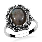 Artisan Crafted Malagasy Labradorite Sterling Silver Ring (Size 10.0) TGW 6.400 cts.