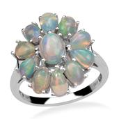 Ethiopian Welo Opal Platinum Over Sterling Silver Ring (Size 10.0) TGW 3.65 cts.