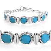 Arizona Sleeping Beauty Turquoise Bracelet in Sterling Silver (7.5 in) TGW 8.700 cts. TGW 8.70 Cts.