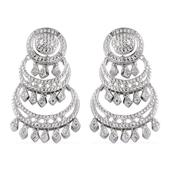 KARIS Collection - Diamond (Rnd) Accent Earrings in Platinum Bond Brass TDiaWt 0.04 cts, TGW 0.040 cts.
