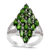 Russian Diopside (Mrq), White Topaz Ring in Sterling Silver Nickel Free (Size 10) TGW 4.720 cts.