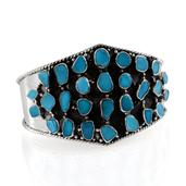 Artisan Crafted Arizona Sleeping Beauty Turquoise Sterling Silver Cuff TGW 22.954 cts.