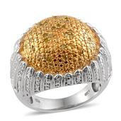 Yellow Diamond (IR), Diamond 14K YG Over and Sterling Silver Ring (Size 6.0) TDiaWt 0.50 cts, TGW 0.500 cts.
