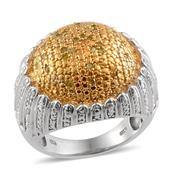 Yellow Diamond (IR), Diamond 14K YG Over and Sterling Silver Ring (Size 7.0) TDiaWt 0.50 cts, TGW 0.500 cts.