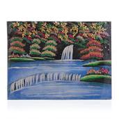 Wide River Citrine, Emerald, Sapphire and Multi Gemstone Artwork (12x16 in)