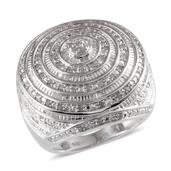 Diamond Platinum Over Sterling Silver Ring (Size 9) TDiaWt 1.00 cts, TGW 1.000 cts.