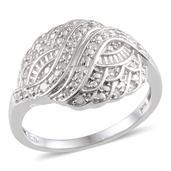 KARIS Collection - Diamond (Rnd) Ring in Platinum Bond Brass (Size 7) TDiaWt 0.10 Cts., TGW 0.10 Cts.