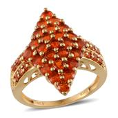 Jalisco Fire Opal 14K YG Over Sterling Silver Ring (Size 9.0) TGW 2.360 cts.