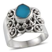 Artisan Crafted Arizona Sleeping Beauty Turquoise Sterling Silver Ring (Size 6.0) TGW 1.120 cts.