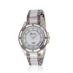 GENOA Austrian Crystal Miyota Japanese Movement Watch in Stainless Steel