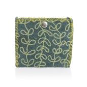 Green Coin Cotton Pouch (4.6x4 in)