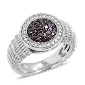 Black Diamond Sterling Silver Ring (Size 5.0) TDiaWt 1.00 cts, TGW 1.000 cts.