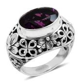 Bali Legacy Collection Radiant Orchid Quartz Sterling Silver Ring (Size 7.0) TGW 5.590 cts.