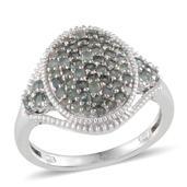 Narsipatnam Alexandrite, Diamond Platinum Over Sterling Silver Ring (Size 8.0) TDiaWt 0.03 cts, TGW 1.830 cts.