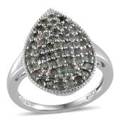 Narsipatnam Alexandrite Platinum Over Sterling Silver Ring (Size 8.0) TGW 2.601 cts.
