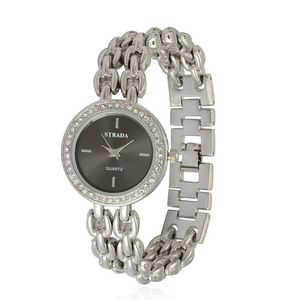 STRADA Austrian Crystal Japanese Movement Watch in Stainless Steel