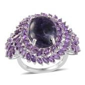 Sierra Madre Purple Opal, Amethyst Platinum Over Sterling Silver Ring (Size 7.0) TGW 15.650 cts.