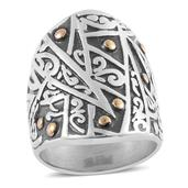 ION Plated YG Stainless Steel Ring (Size 9)