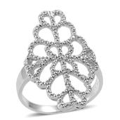 Diamond Sterling Silver Accent Ring (Size 7.0) TDiaWt 0.05 cts, TGW 0.050 cts.