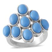 Blue Howlite Ring in Stainless Steel (Size 5)