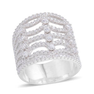 Simulated Diamond Sterling Silver Ring (Size 6) TGW 1.380 cts.