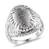 Marvelous Meteorites Platinum Over Sterling Silver Ring (Size 7.0) TGW 15.900 cts.