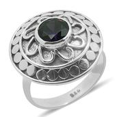 Bali Legacy Collection Simulated Purple Diamond Sterling Silver Carved Ring (Size 6.0) TGW 3.420 cts.
