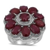 Niassa Ruby Sterling Silver Bold Daisy Ring (Size 6) TGW 12.830 cts.
