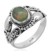 Bali Legacy Collection Ethiopian Welo Opal Sterling Silver Ring (Size 9.0) TGW 0.860 cts.