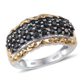 Monte Belo Indicolite 14K YG and Platinum Over Sterling Silver Ring (Size 6.0) TGW 1.900 cts.