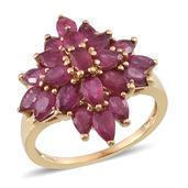 Niassa Ruby 14K YG Over Sterling Silver Ring (Size 6.0) TGW 6.700 cts.