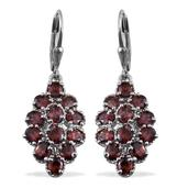 Umba River Zircon Platinum Over Sterling Silver Lever Back Earrings TGW 6.72 Cts.