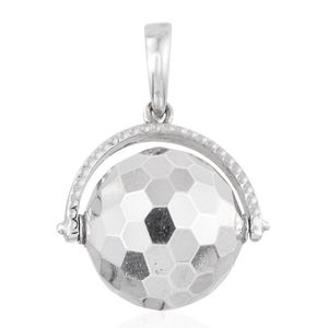 Bali Legacy Collection Sterling Silver Disco Ball Pendant without Chain (3.7 g)