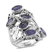 Rough Cut Tanzanite Sterling Silver Ring (Size 7.0) TGW 7.700 cts.